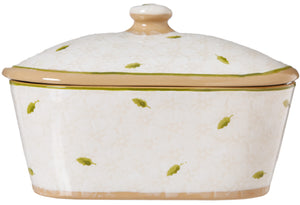 Covered Butterdish Lawn White Nicholas Mosse Pottery handcrafted spongeware Ireland