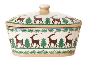 Nicholas Mosse Covered Butterdish Reindeer