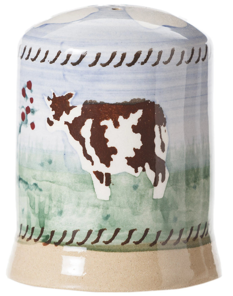 Cow Pepper Cruet spongeware by Nicholas Mosse Pottery - Ireland - Handmade Irish Craft