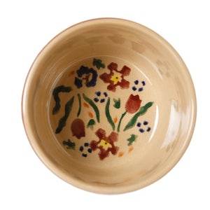 Custard Cup Inside Wild flower Meadow Nicholas Mosse Pottery