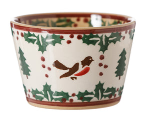 Custard Cup Winter Robin