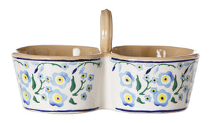 Double Dipper Forget Me Not Nicholas Mosse Pottery handcrafted spongeware Ireland