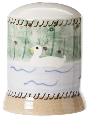 Duck Pepper Cruet spongeware by Nicholas Mosse Pottery - Ireland - Handmade Irish Craft