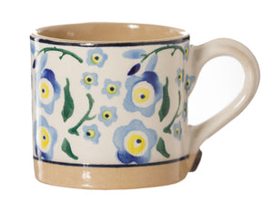 Espresso Cup Forget Me Not Nicholas Mosse Pottery handcrafted sponge ware Ireland