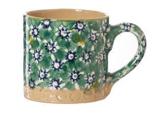 Espresso Cup Green lawn Nicholas Mosse Pottery handcrafted sponge ware Ireland