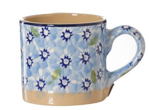 Espresso Cup Light Blue Lawn Nicholas Mosse Pottery handcrafted sponge ware Ireland