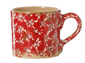 Espresso Cup Red Lawn Nicholas Mosse Pottery handcrafted sponge ware Ireland