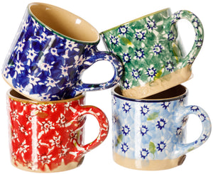 Espresso Cups set of 4 Mixed Lawn Patterns