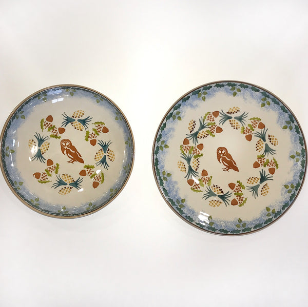 Set Everyday Bowl and Everyday Plate Owl