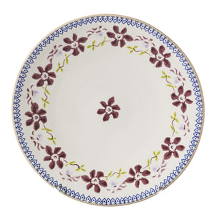 2 Everyday Plates Clematis spongeware pottery by Nicholas Mosse, Ireland - Handmade Irish Craft - nicholasmosse.com