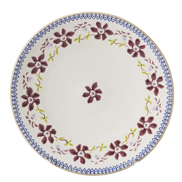 2 Everyday Plates Clematis 2 spongeware by Nicholas Mosse Pottery - Ireland - Handmade Irish Craft