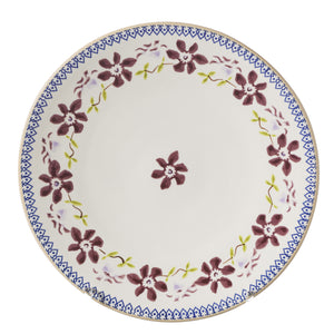 Everyday Plate Clematis spongeware by Nicholas Mosse Pottery - Ireland - Handmade Irish Craft