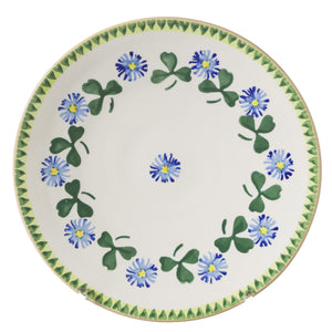 Everyday Plate Clover spongeware pottery by Nicholas Mosse Pottery - Ireland - Handmade Irish Craft