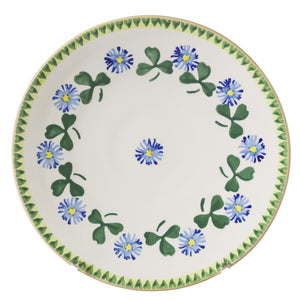 2 Everyday Plates Clover 2 spongeware by Nicholas Mosse Pottery - Ireland - Handmade Irish Craft