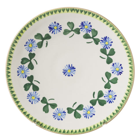 2 Everyday Plates Clover spongeware by Nicholas Mosse Pottery - Ireland - Handmade Irish Craft