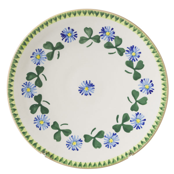 Everyday Plate Clover spongeware by Nicholas Mosse Pottery - Ireland - Handmade Irish Craft