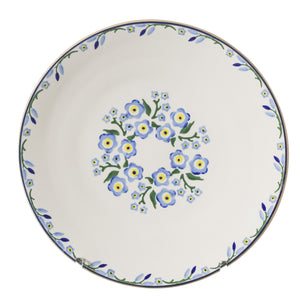2 Everyday Plates Forget Me Not spongeware pottery by Nicholas Mosse, Ireland - Handmade Irish Craft - nicholasmosse.com