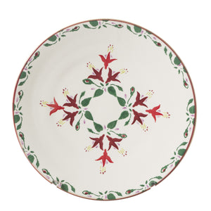 2 Everyday Plates Fuchsia 2 spongeware by Nicholas Mosse Pottery - Ireland - Handmade Irish Craft