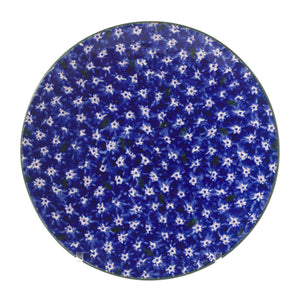 2 Everyday Plates in Lawn Dark Blue spongeware pottery by Nicholas Mosse, Ireland - Handmade Irish Craft - nicholasmosse.com