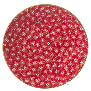 Everyday Plate Lawn Red spongeware by Nicholas Mosse Pottery - Ireland - Handmade Irish Craft