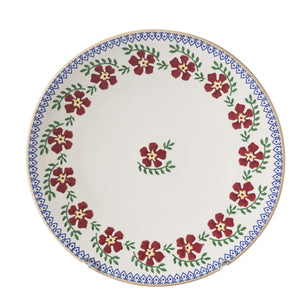 2 Everyday Plates Old Rose spongeware pottery by Nicholas Mosse, Ireland - Handmade Irish Craft - nicholasmosse.com