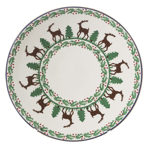 2 Everyday Plates Reindeer spongeware pottery by Nicholas Mosse, Ireland - Handmade Irish Craft - nicholasmosse.com