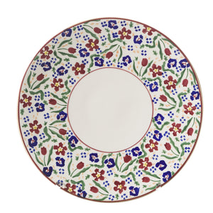 2 Everyday Plates Wild Flower Meadow spongeware by Nicholas Mosse Pottery - Ireland - Handmade Irish Craft