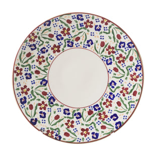Everyday Plate Wild Flower Meadow spongeware by Nicholas Mosse Pottery - Ireland - Handmade Irish Craft