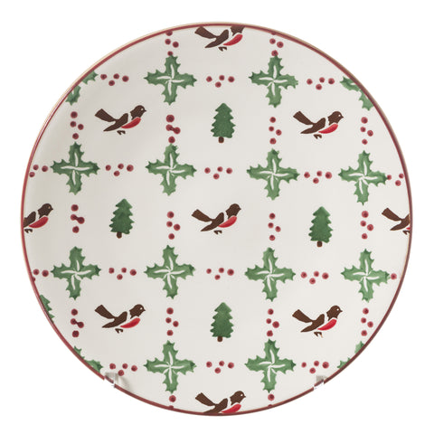 Set Winter Robin Everyday Plate and Tall Mug