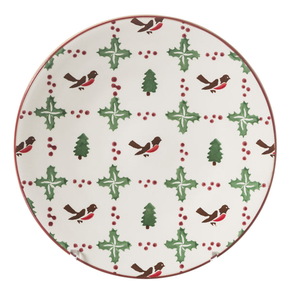 Everyday Plate Winter Robin spongeware by Nicholas Mosse Pottery - Ireland - Handmade Irish Craft