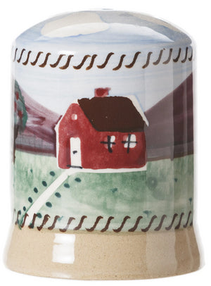 Farmhouse Salt Cruet spongeware by Nicholas Mosse Pottery - Ireland - Handmade Irish Craft