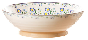 Fruit bowl Forget Me Not spongeware pottery by Nicholas Mosse Pottery - Ireland - Handmade Irish Craft