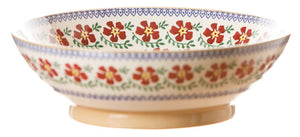 Fruit bowl Old Rose spongeware pottery by Nicholas Mosse Pottery - Ireland - Handmade Irish Craft