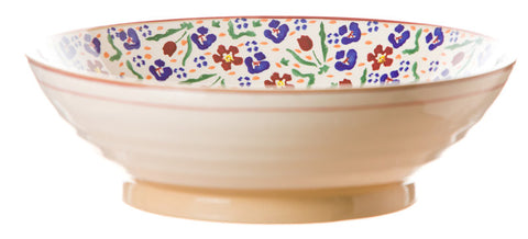 Fruit bowl Wild Flower Meadow spongeware pottery by Nicholas Mosse Pottery - Ireland - Handmade Irish Craft.