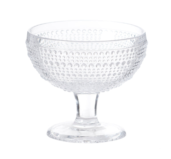 Nicholas Mosse Glass Hobnail Stem Bowl
