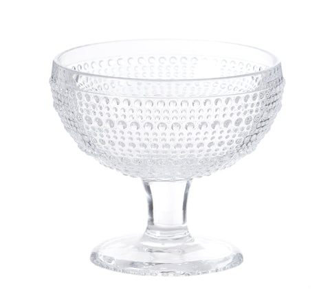 Glass Hobnail Stem Bowl