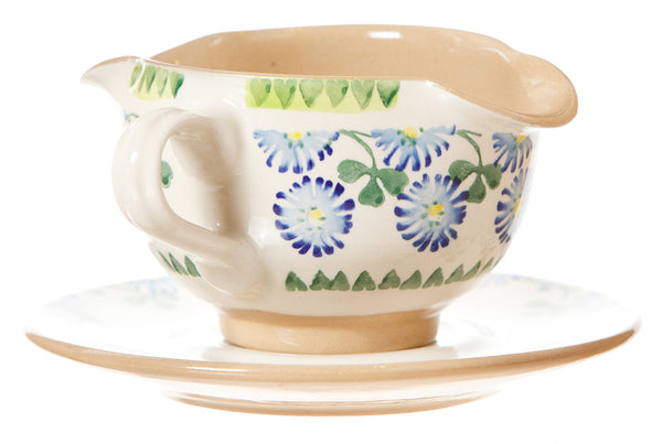 Nicholas Mosse Gravy Boat And Saucer Clover