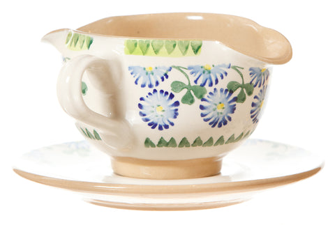 GRAVY BOAT AND SAUCER CLOVER