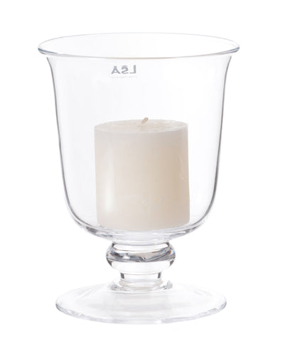 Hurricane Lamp With Candle