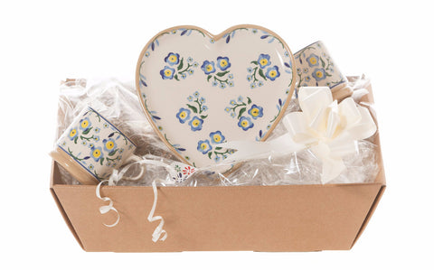 Nicholas Mosse Heart Gift Set In  Forget Me Not