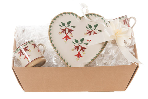 HEART GIFT SET IN FUCHSIA