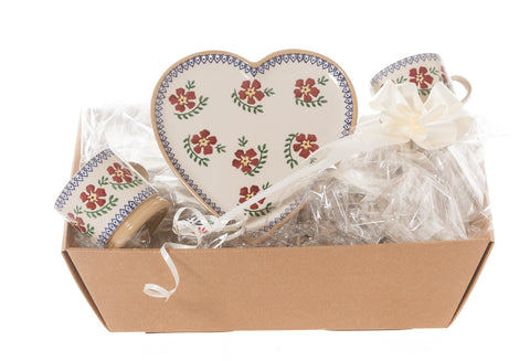 HEART GIFT SET IN OLD ROSE