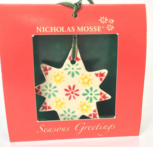 Nicholas Mosse Star Ornament