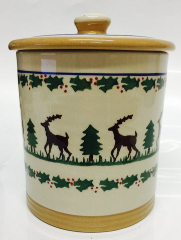 Medium Storage Jar (2lb) Reindeer