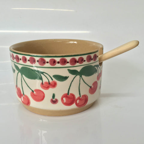 RELISH BOWL SINGLE CHERRY WITH SPOON