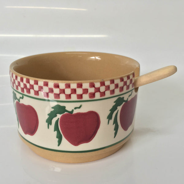 RELISH BOWL SINGLE APPPLE WITH SPOON