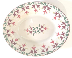 Nicholas Mosse Small Oval Serving Dish Fuchsia