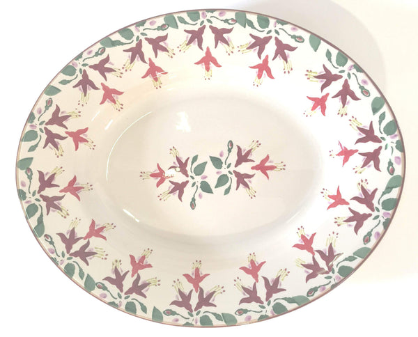 Small Oval Serving Dish Fuchsia