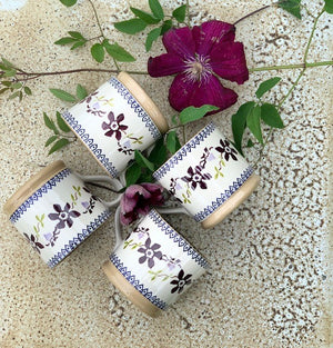 4 Large Mugs Clematis Set Nicholas Mosse Pottery handcrafted sponge ware Ireland