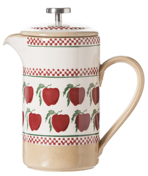 Large Cafetiere Coffee Pot Apple 2 spongeware by Nicholas Mosse Pottery - Ireland - Handmade Irish Craftspongeware by Nicholas Mosse Pottery - Ireland - Handmade Irish Craft